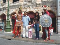 Athif and family in verona, italy... outside that famous Coliseum